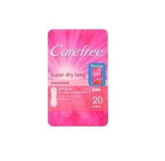 Harga Carefree Super Dry Long Unscented 20 Liners