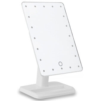Harga Fashion Portable Folding Table 20 LEDs 181 Rotating Mirror(White)