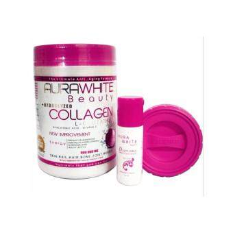 Harga Aura White Collagen new packaging Free Serum + Shaker