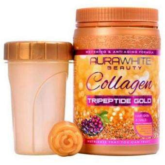Harga (Original) AURAWHITE Beauty Gold Collagen with Tripeptide Gold