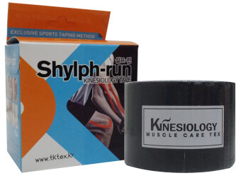Harga EVTape Shylph-Run Kinesiology Tape Korea Rayon Tape (Black Color)