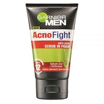 Harga Garnier Men Acno Fight Anti-Acne Scrub in Foam 100ml