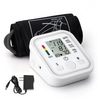 Harga Automatic Digital Upper Arm Blood Pressure Monitor with Upper Arm Cuff & Irregular Heartbeat Detector, with AC Adapter