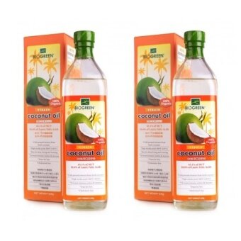 Harga BIOGREEN 100% ORGANIC VIRGIN COCONUT OIL 730ML x2