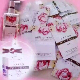 Harga 2 Set Authentic Aisan Top Team Pure Flower Extract No Silicone Shampoo and Hair Restoration Mask (sample pack) 正品闪钻微女神鲜花原液防脱发无硅洗发汁 & 还原蛋白酸发膜 (试用装)