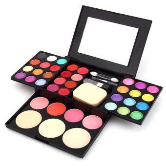 Harga ADS Cosmetic Make-Up Kit 24 Colour Eye Shadow Kit with Mirror & Brush