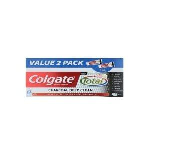 Harga Colgate Total Charcoal Deep Clean Anticavity Toothpaste 2 x 150g