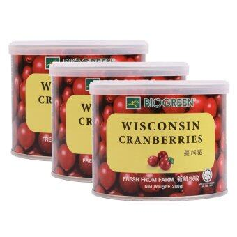 Harga BIOGREEN Wisconsin Cranberries 3 x 200g (Triple Pack)