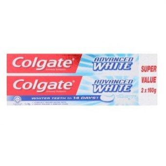 Harga Colgate Advanced White Anticavity Toothpaste 2 x 160g