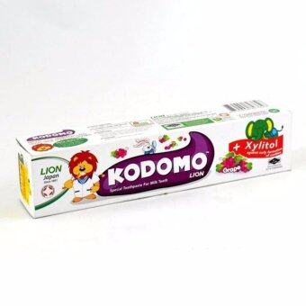 Harga KODOMO LION TOOTHPASTE GRAPE 80G(2 TUBES )