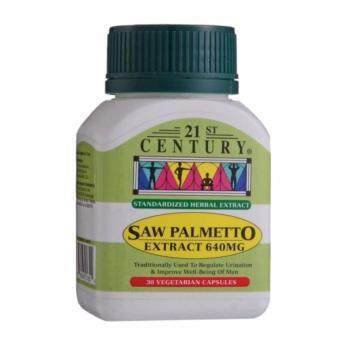 Harga 21st Century Saw Palmetto Extract 640 mg 30 Vegetarian Capsules