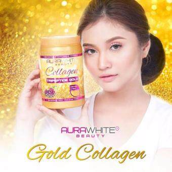 Harga AURAWHITE Beauty Collagen Tripeptide Gold With Extra Gift