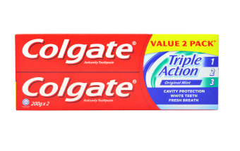 Harga Colgate Triple Action Value Twin Pack Toothpaste 200g x 2