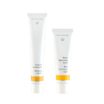 Harga Dr.Hauschka Daily Skincare Set Cleansing Cream+Rose Day Face Cream (Light) #b70