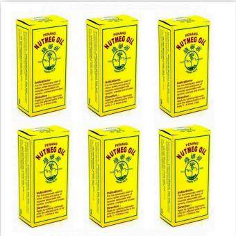 Harga Pinang Palm Penang Nutmeg Oil 20ml x 6 Bottles