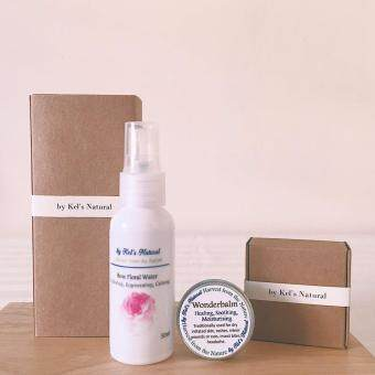 Harga Kel's Natural Australia Bulgarian Rose mist + wonderbalm set