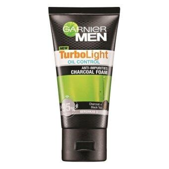 Harga Garnier Men Turbolight Oil Control Anti-Impurities Charcoal Foam 50ml