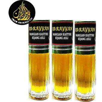 Harga 3 Pcs Minyak Kasturi Kijang Asli Deer Musk (Original) Attar Perfume Oil Alcohol Free - 3ML
