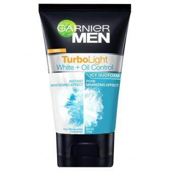 Harga Garnier Men Turbolight Oil Control Icy Duo Foam Blue 100ml