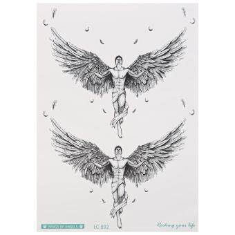 Harga Waterproof Temporary Tattoo Stickers Flower Arm Angel Wing for Christmas Gift Body Art Makeup (LC-892)