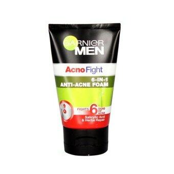 Harga GARNIER Men Acno Fight 6 in 1 Anti-Acne Foam 100ml