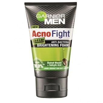 Harga Garnier Men Acno Fight Wasabi Anti-Bacteria Brightening Foam 100ml
