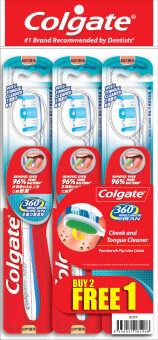 Harga Colgate 360 Soft Buy 2 FREE 1 Toothbrush 3pcs