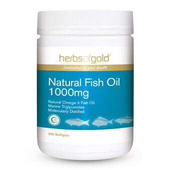 Harga Herbs Of Gold Natural Fish Oil 1000mg 300's
