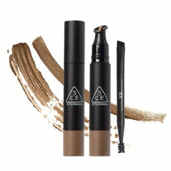 Harga [3CE] WATER PROOF CREAM BROW & BROW MASCARA #CARAMEL BROWN