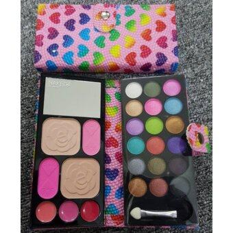 Harga Kiss Beauty Fashion Naked 4 Make Up Wallet Kit (Pink)