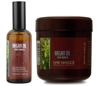 Harga MOROCCO ARGAN OIL CAVIAR ESSENCE HAIR MASK 500ML + MOROCCO ARGAN OIL 100ML