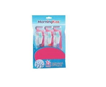 Harga MorningKiss Deluxe Medium Toothbrush 3pcs