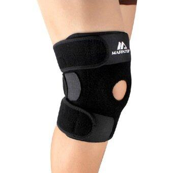 Harga Andux Neoprene Elastic Patella Knee Brace Fastener Support Guard Gym Sport HX-01 Black
