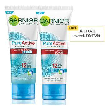 Harga [PROMO SET] Garnier Pure Active Cleansing Set with FREE Gift