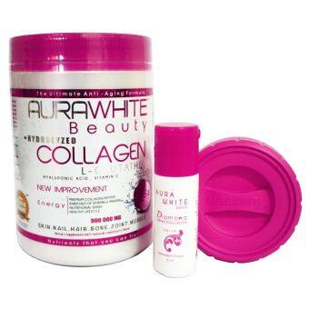 Harga Aura White Collagen new packaging Free Serum+ Shaker