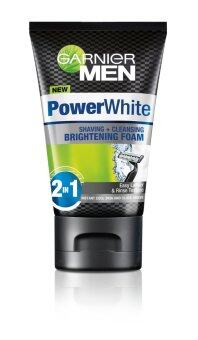 Harga Garnier Men Power White Shaving & Cleaning Whitening Foam 100ml