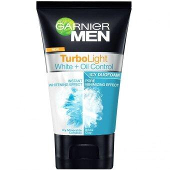 Harga Garnier Men Turbolight White + Oil Control Icy Duo Foam 50ml