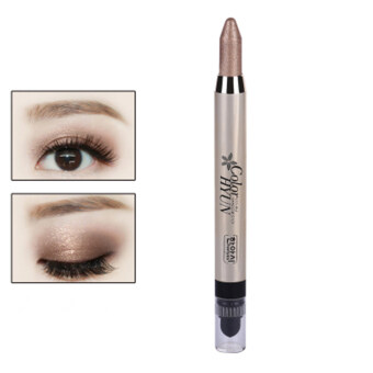 Harga Cream Eyeliner Eye shadow Pencil Lying Silkworm Big Smokey Eyes Shimmer Makeup Glitter Eye Liner Pen (Brown)