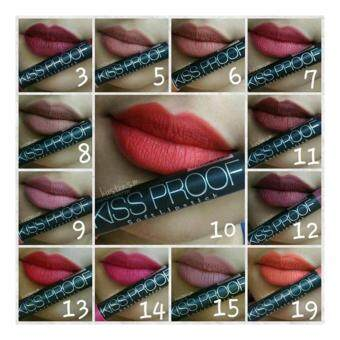 Harga MN Kiss Proof Matte Lipstick (No.12)