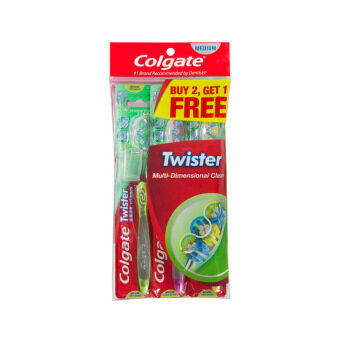 Harga COLGATE Toothbrush Twister Medium Buy 2 Free 1