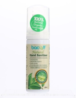 Harga Bacoff Natural Hand Sanitiser 50ml x 6 (Value Pack)