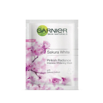Harga GARNIER Sakura White Pinkish Radiance Intensive Whitening Mask 19ML