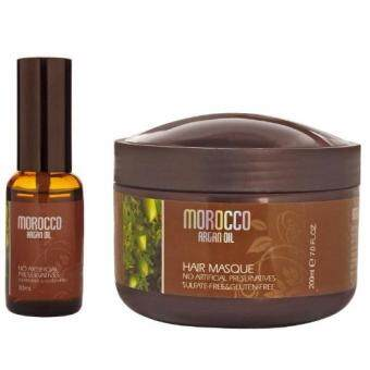 Harga MOROCCO ARGAN OIL CAVIAR ESSENCE HAIR MASK 200ML+ARGAN OIL 30ML VALUE SET