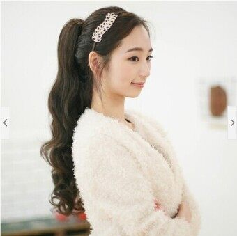 Harga New Korean American Manufacturers Are Receiving Curly Ponytail