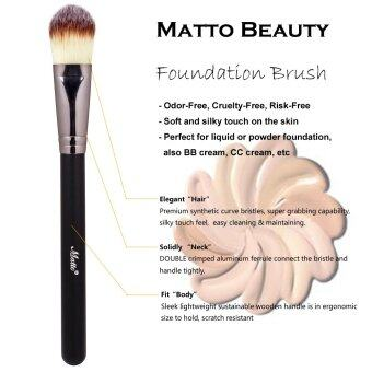 Harga Matto Foundation Makeup Brush for Wet/Dry Foundation Liquid BB Cream Beauty Cosmetics Make Up Tools 1pcs (Black)