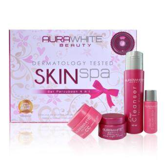 Harga (Original) AURAWHITE SKIN SPA TRIAL SET 4 IN 1