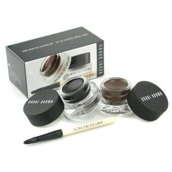Harga Bobbi Brown Long Wear Gel Eyeliner Duo: 2x Gel Eyeliner 3g (Black Ink, Sepia Ink) + Mini Ultra Fine Eye Liner Brush 3pcs