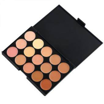 Harga MagiDeal 15 Colors Cream Concealer Highlight Face Contour Foundation Pallete