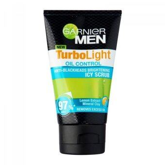 Harga GARNIER Men Turbo Light Oil Control Icy Scrub 100ml