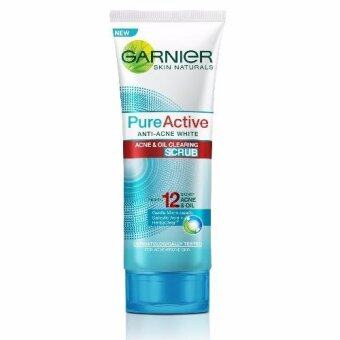 Harga Garnier Pure Active Anti-Acne White Scrub 100ml